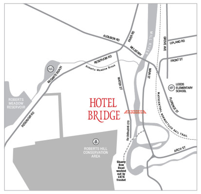 Hotel Bridge Map BW
